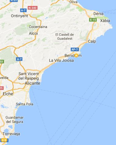 Costa Blanca Mapa