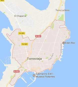 Mapa de Torrevieja