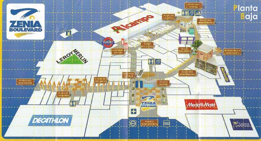 Map La Zenia Boulevard