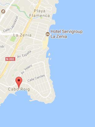 Mapa de Cabo Roig