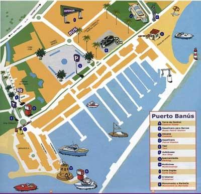 Mapa de Puerto Banús