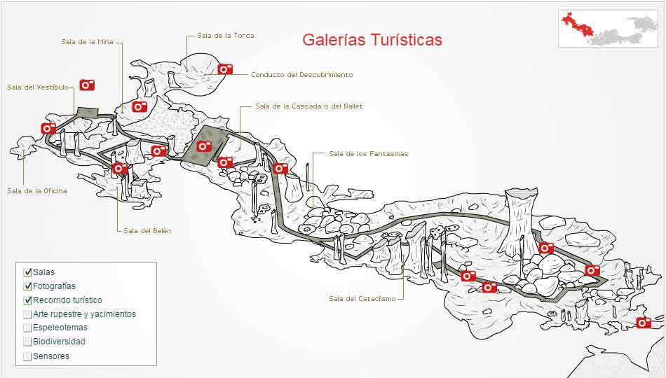 Caves of Nerja map