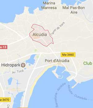 Mapa de Alcúdia