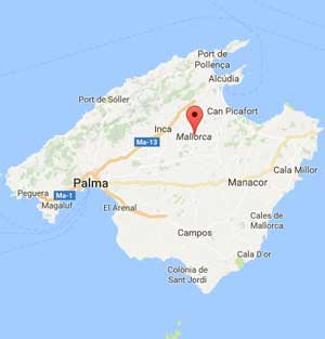 Mapa de Majorca
