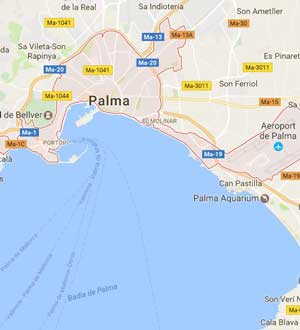Palma de Mallorca mapa