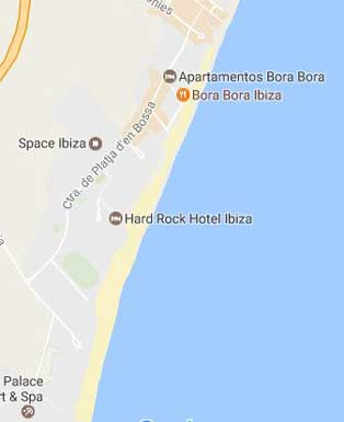 Playa den Boss Mapa