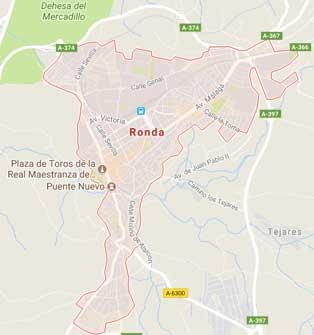 Mapa de Ronda, España