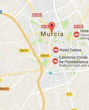 Mapa of Murcia