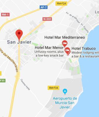 San Javier Mapa