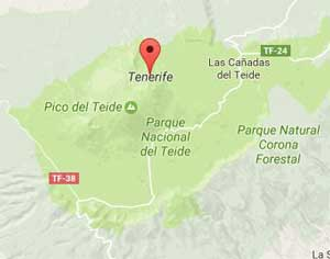 Map of Tenerife Central